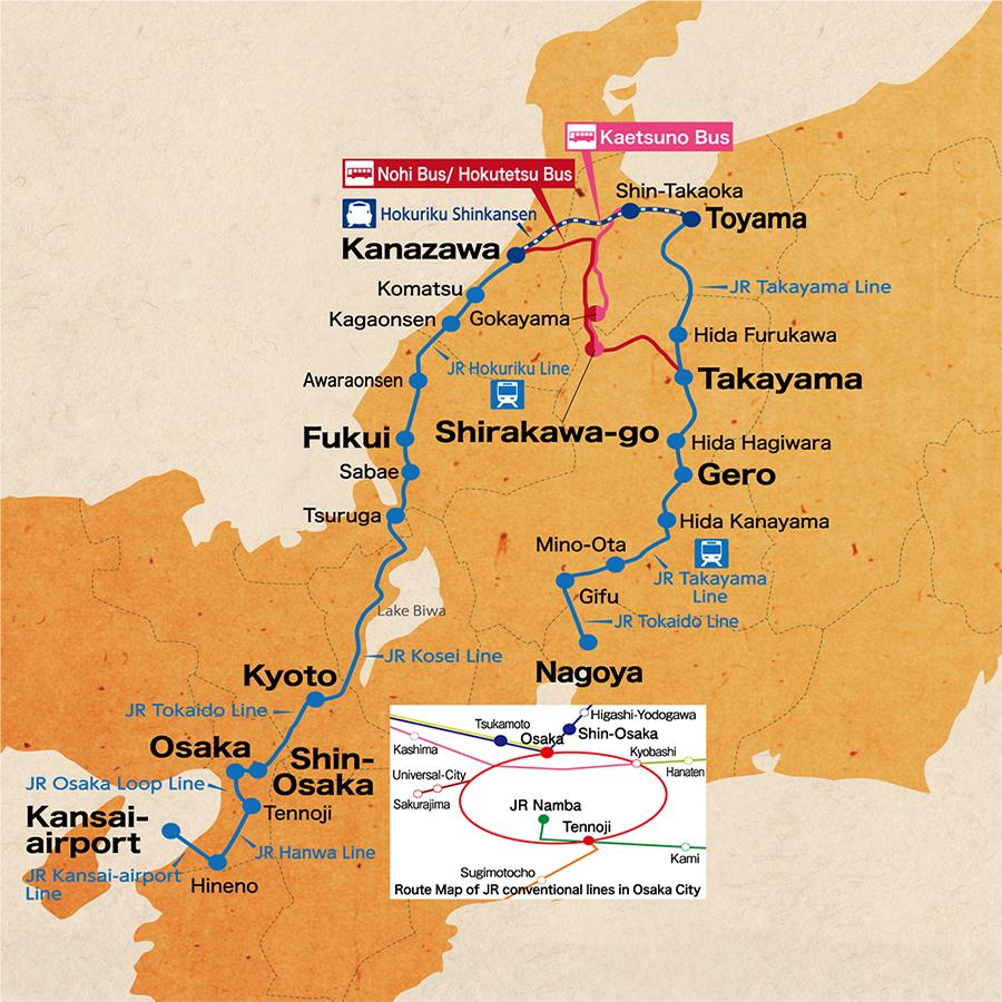 Japan Route Map - Japan map full